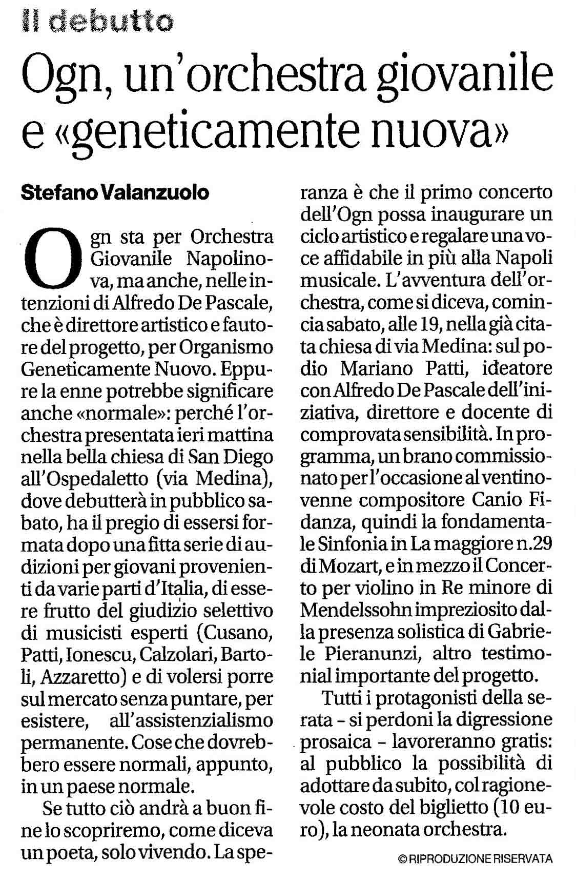 Associazione napolinova for Camera deputati rassegna stampa